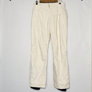 Columbia White Cream Snow Pants